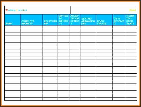 11 printable wedding guest list template sampletemplatess sampletemplatess. Black Bedroom Furniture Sets. Home Design Ideas