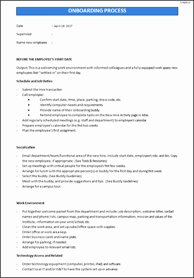 onboarding checklist main image template