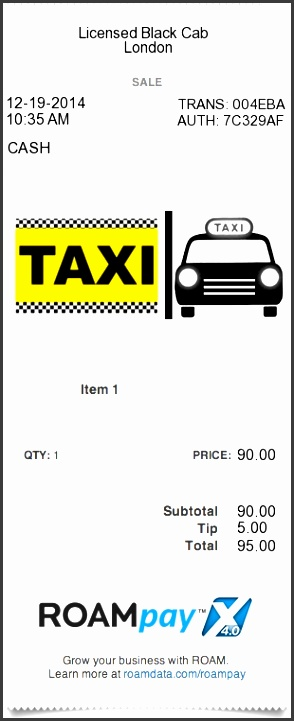 8 Professional Taxi Receipt Template Sampletemplatess