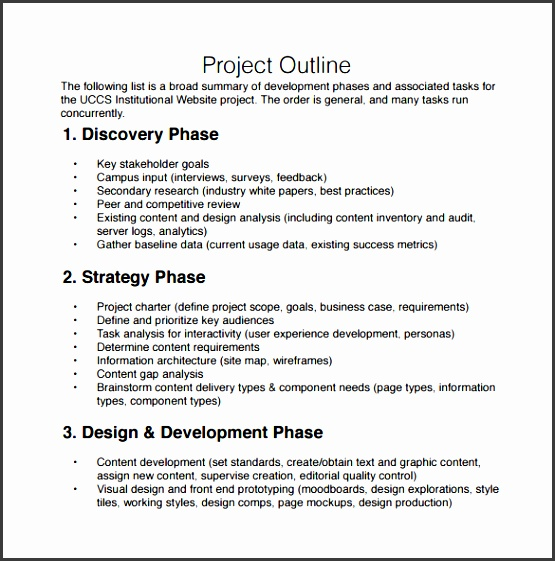 project outline template word project outline template 9 free documents in pdf word free