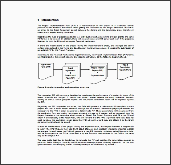 4 project plan in pdf sampletemplatess sampletemplatess for Project plan document template free