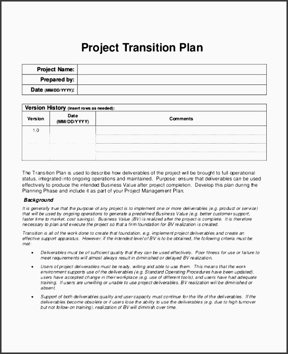 document management strategy template - 6 project plan in word sampletemplatess sampletemplatess