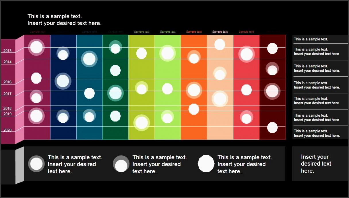 powerpoint timeline matrix layout