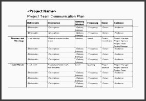 project team munication plan free