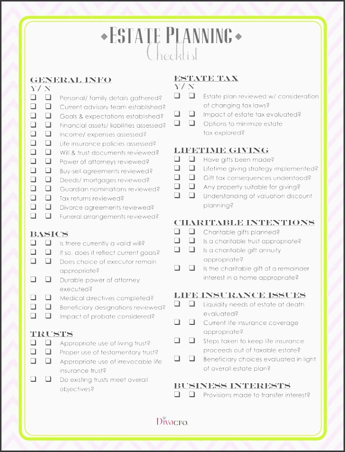 Ready To Use Funeral Planning Checklist Template