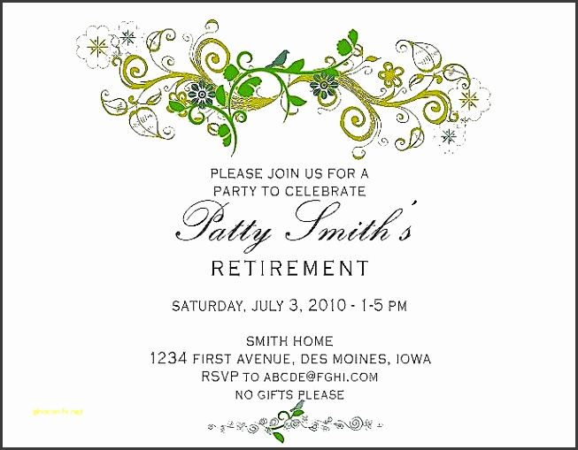 how to make baby shower invitations on microsoft word new retirement party invitation template free