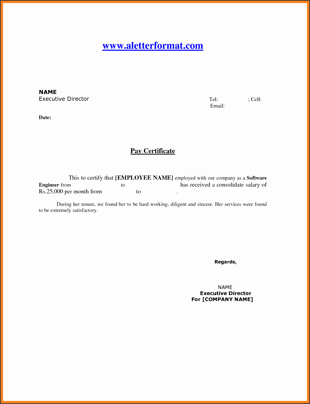 5 salary statement template