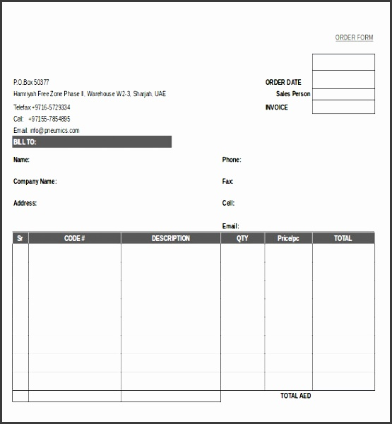 Picture Order Form Template Order Form Templates 25 Free Wordexcel Pdf  Documents 1  Company Order Form Template