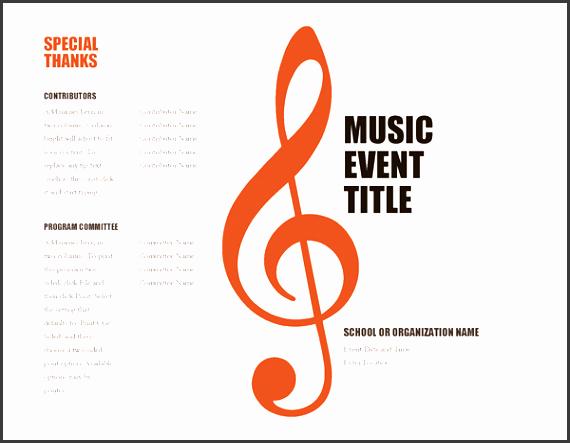 10 school music event program template sampletemplatess sampletemplatess. Black Bedroom Furniture Sets. Home Design Ideas