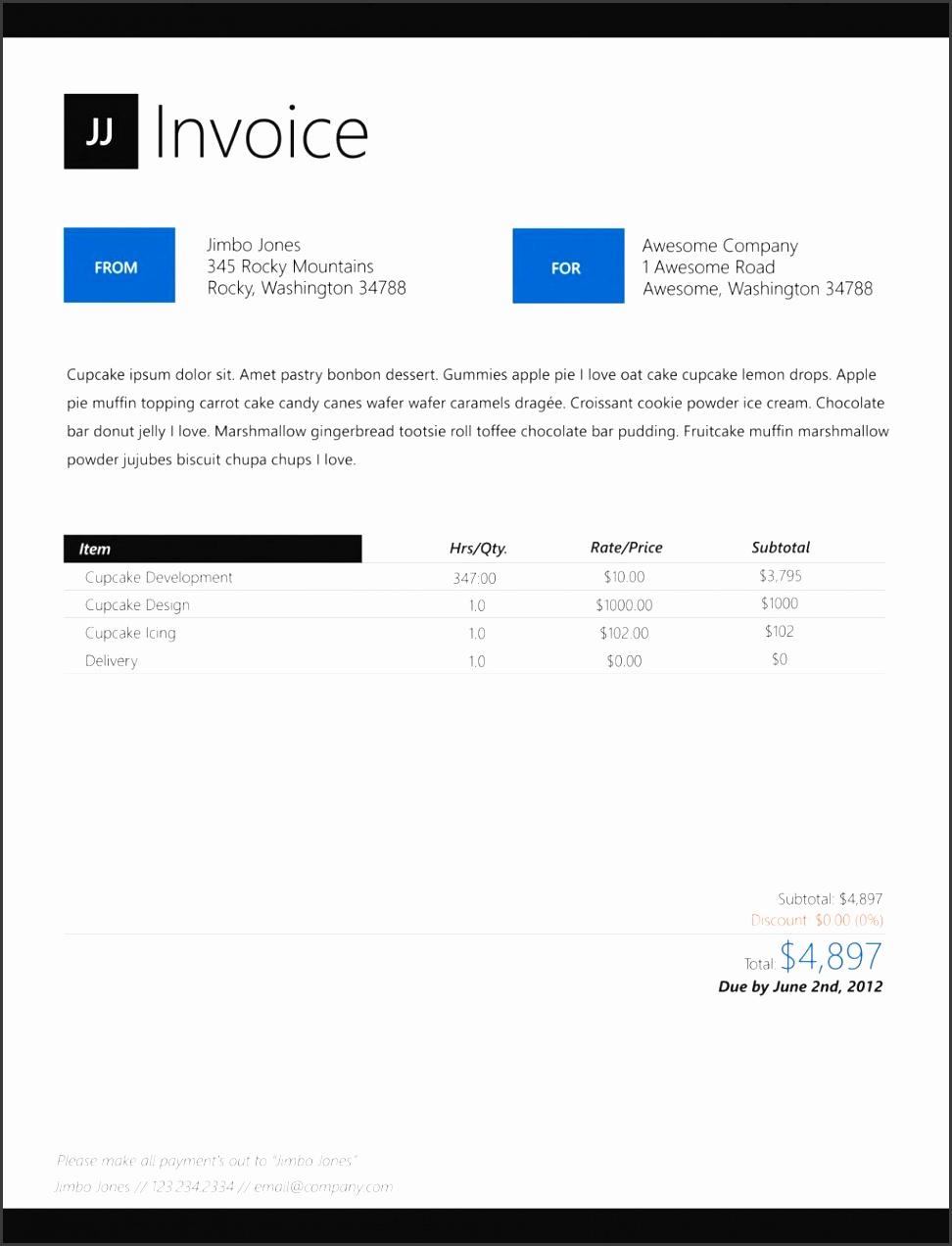 Free Interior Design Invoice Template