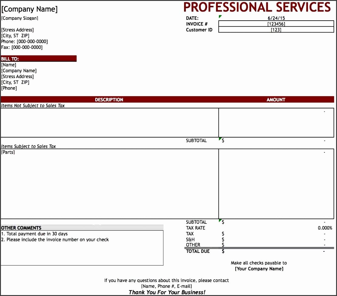 10 service invoice templates sampletemplatess sampletemplatess. Black Bedroom Furniture Sets. Home Design Ideas