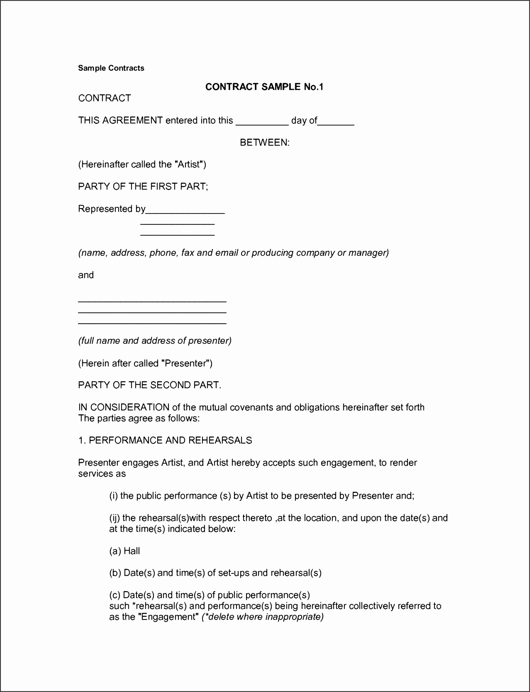 email contract template with it service contract template free order form template microsoft and memorandum of