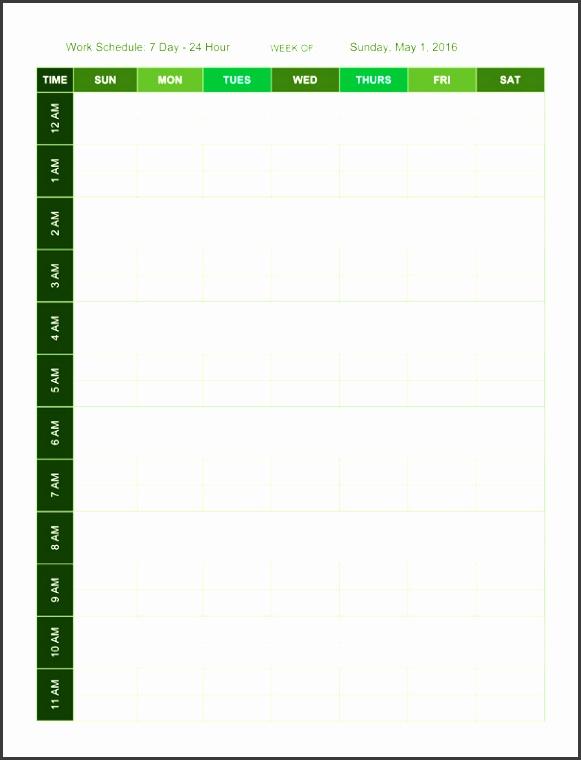 11 Seven Days Planner Template - SampleTemplatess ...