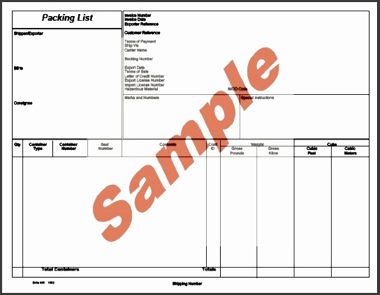 global wizard shipment wizard packing list sample landscape