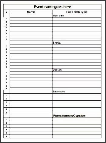 christmas potluck sign up sheet template 5goub awesome search results for printable potluck sign up