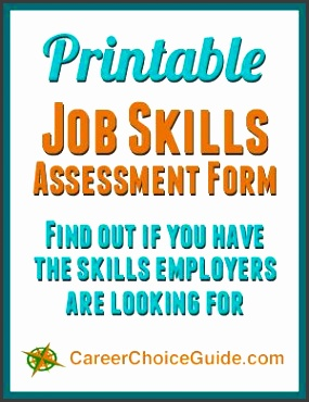 free printable job skills assessment form an easy way to find out if you have