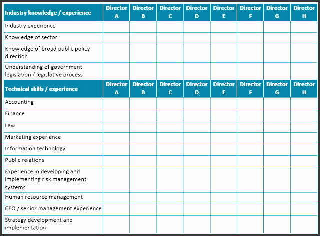 board skills petency matrix 1