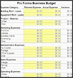 free business bud template small business bud template excel