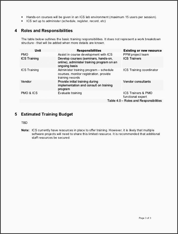 Staff Training Plan Sample  Sampletemplatess  Sampletemplatess