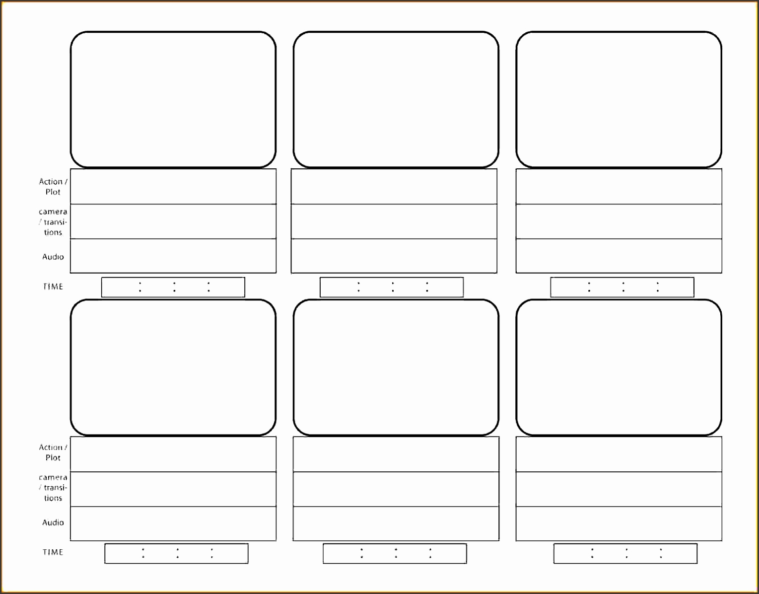 film storyboard template word - 10 storyboard template for videos sampletemplatess