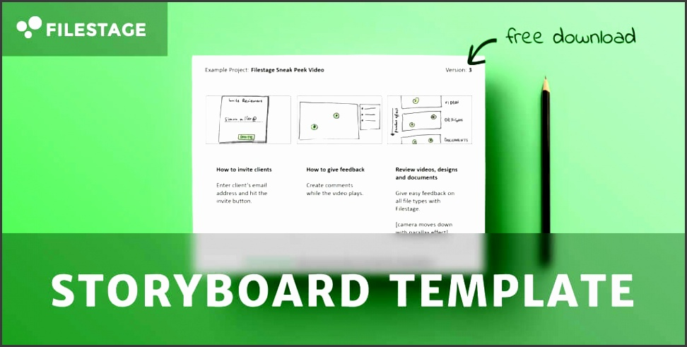 storyboard template header image