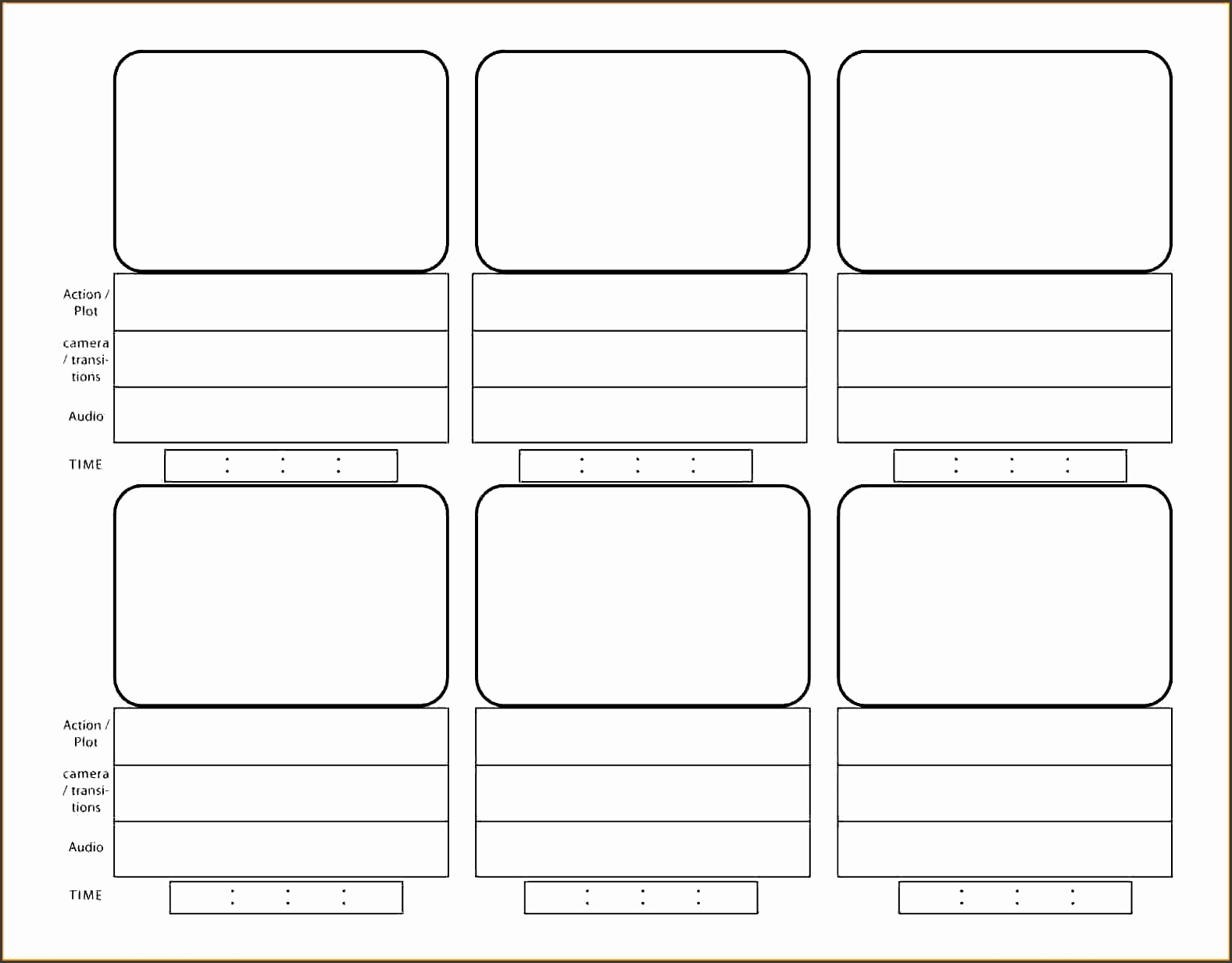 interactive storyboard template - 10 storyboard template for videos sampletemplatess
