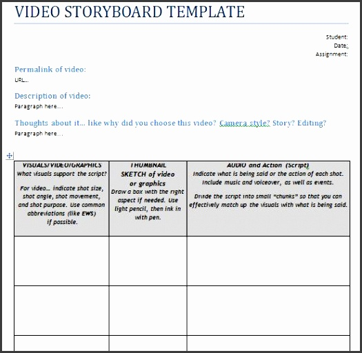 Storyboard Template In Powerpoint  Sampletemplatess