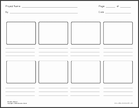 A3 Storyboard Template Choice Image Template Design Free Download