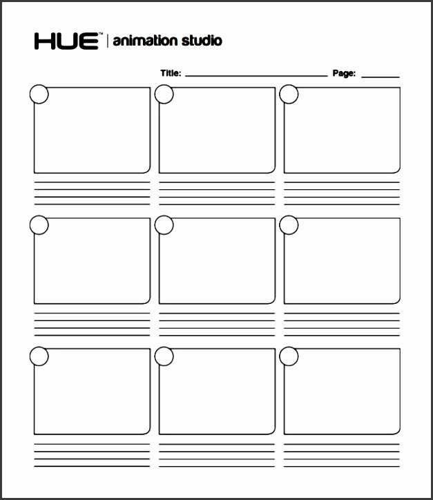 animation storyboard template frame by frame