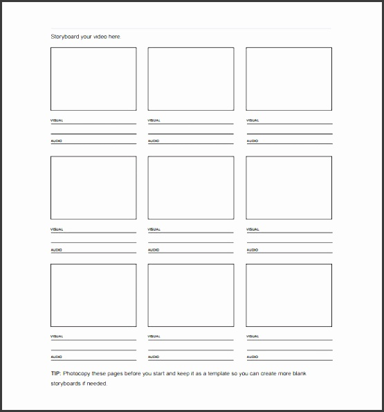 free storyboard template for film and video pdf