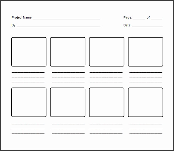 blank project storyboard template