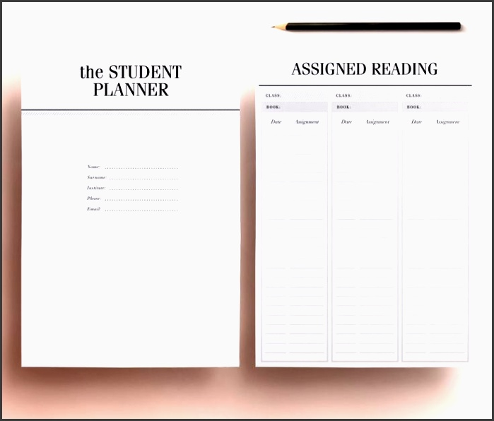 student planner a4 a5 college planner printable student agenda homework organizer 13 sheets week day month planners agendas