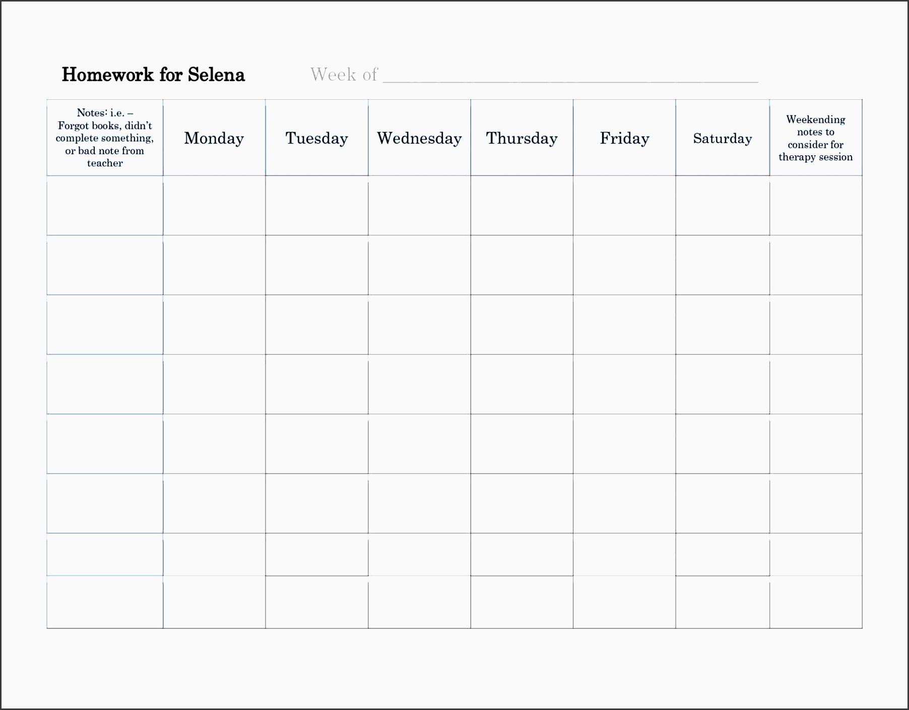 Free Printable Homework Planner - Your Modern Family