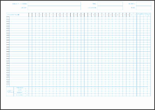 7 student attendance sheet template