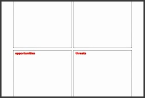 Perfect Blank Business Swot Analysis Template Pdf Printable  Blank Swot Analysis Template