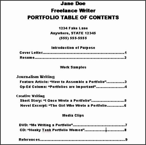 make portfolio table contents 800x800