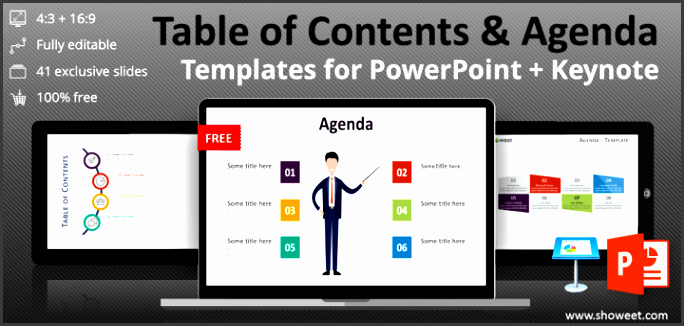 table of contents templates powerpoint keynote 720x340