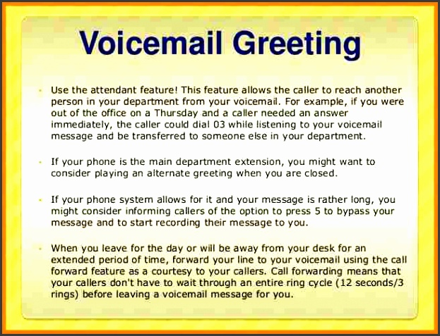 office phone message