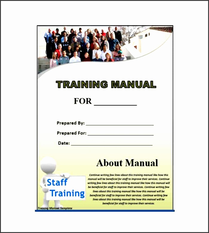 5  training guide template word free