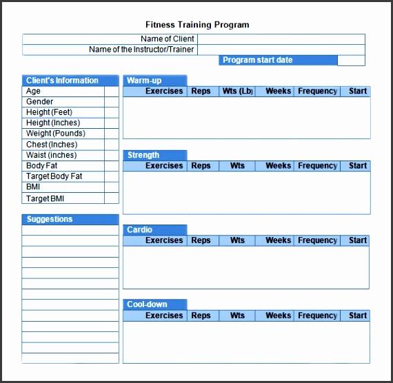 workout programming template