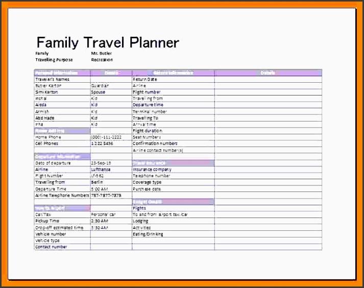10 Travel Plan Template Sampletemplatess Sampletemplatess