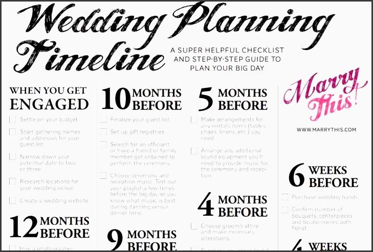 free wedding checklist timeline
