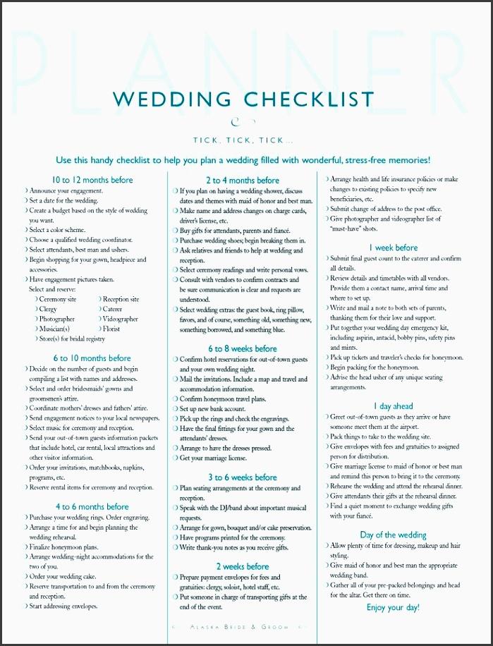 handy wedding planner checklist
