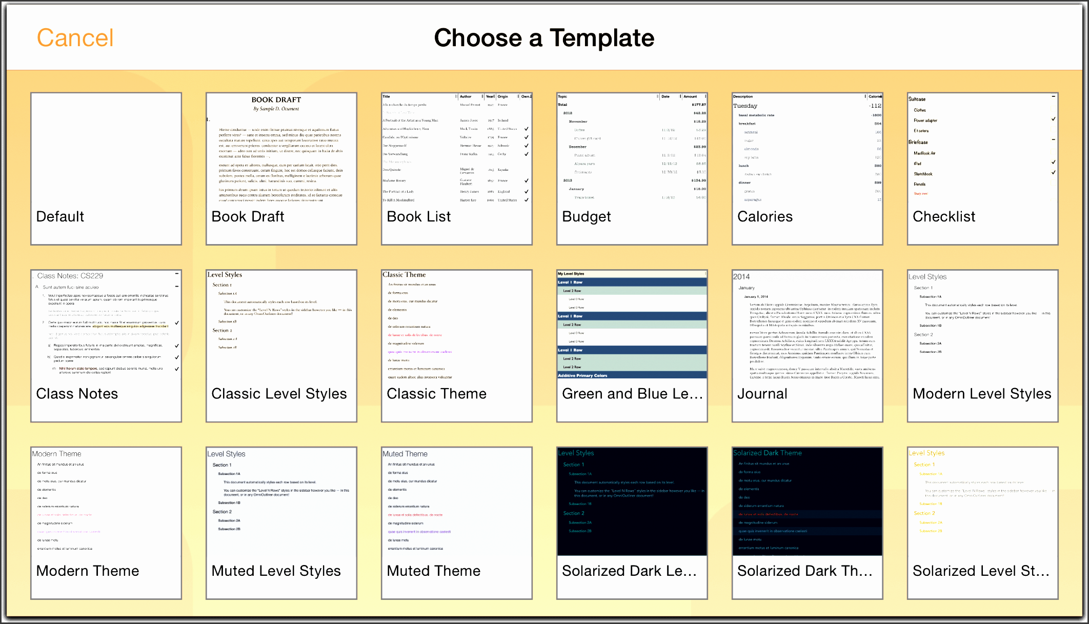 6 user manual template sampletemplatess sampletemplatess for Omnioutliner templates