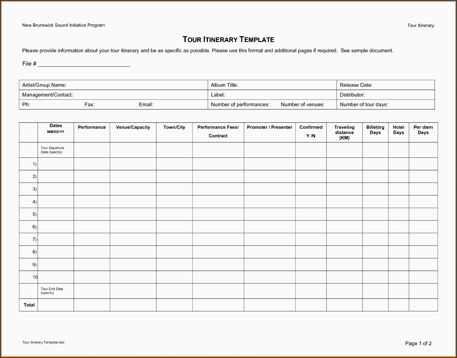 itinerary maker template - Selo.l-ink.co