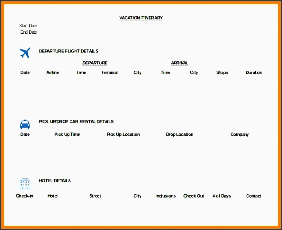 12 trip planner template