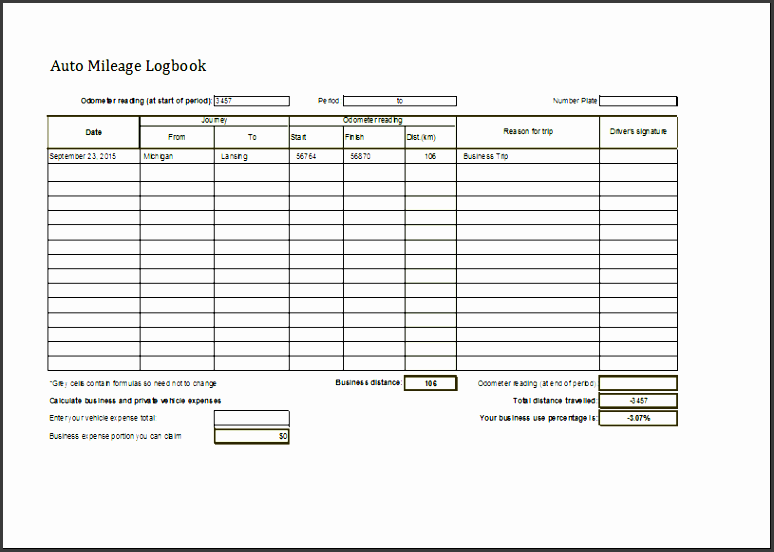 business logbook template auto mileage logbook editable ms excel template word document template