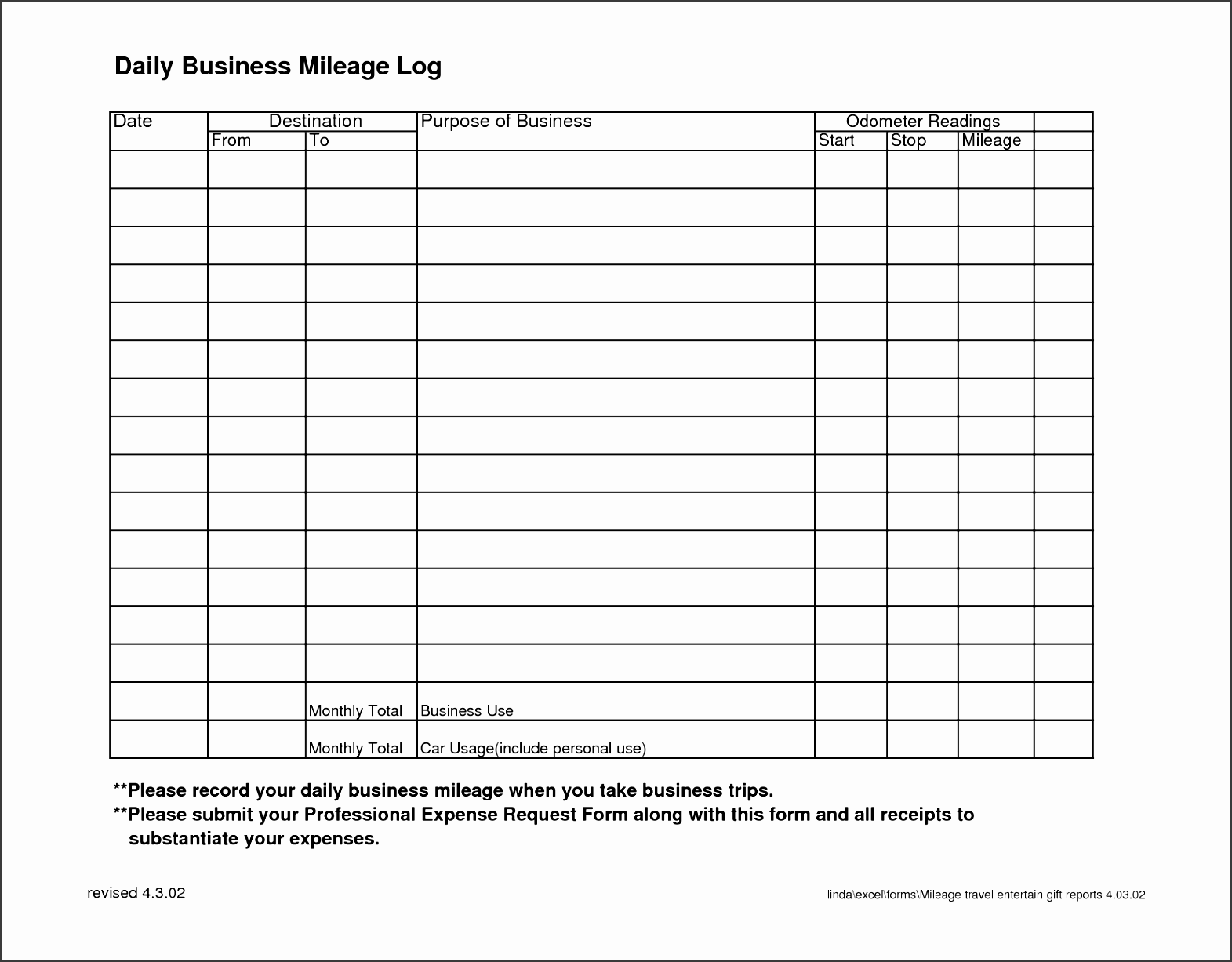 Crafty image with printable mileage log book