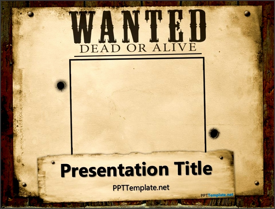 11 wanted poster templates