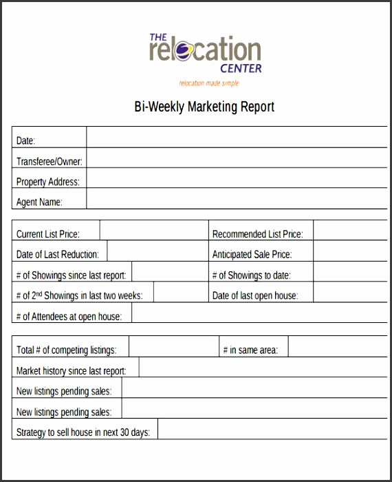 Weekly Marketing Report Templates  Sampletemplatess